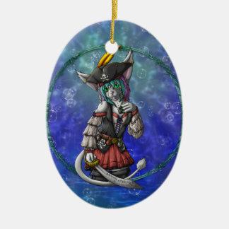 Kapitän Cabbity von TCSCo. Ovales Keramik Ornament