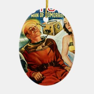 Kapitän Future und der Gehirn-Kasten Ovales Keramik Ornament