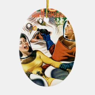 Kapitän Future und der magische Mond Ovales Keramik Ornament