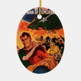 Kapitän Future und der Vulkan Keramik Ornament