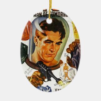 Kapitän Future und die Raum-Steine Ovales Keramik Ornament