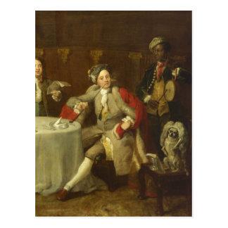 Kapitän Lord George Graham durch William Hogarth Postkarte
