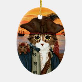 Kapitän Löwe, Piraten-Katze u. Ovales Keramik Ornament
