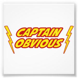 Kapitän Obvious Superhero Photodruck