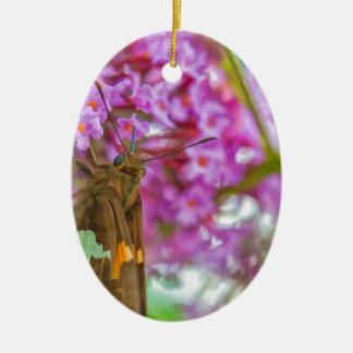 Kapitän-Schmetterling Ovales Keramik Ornament