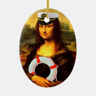 Kapitän zur See Mona Lisa Ovales Keramik Ornament