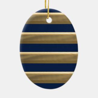 Kapitängoldstreifen Ovales Keramik Ornament