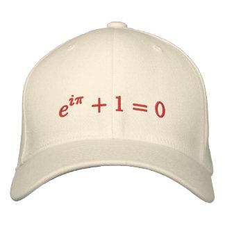 Kappe: Eulers Identität gestickt, groß, rot Bestickte Kappe