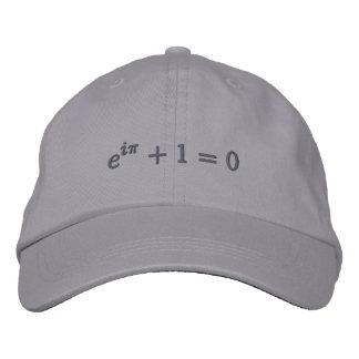 Kappe: Eulers Identität gestickt, klein, grau Bestickte Kappe