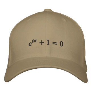 Kappe: Eulers Identität gestickt, klein, Schwarzes Bestickte Kappe