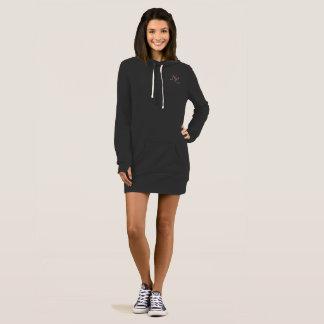 Kapuzekleid-Pullover Frau NL Kleid