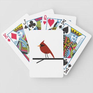 Kardinal auf einem Glied Pokerkarten