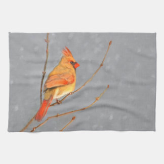 Kardinal auf Niederlassung Handtuch