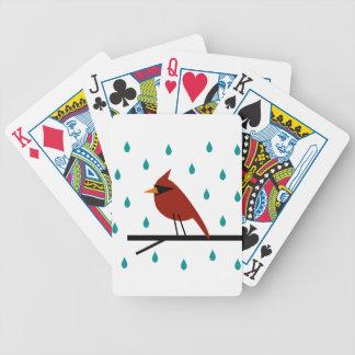 Kardinal im Regen Bicycle Spielkarten