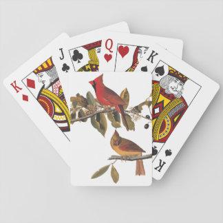 KardinalGrosbeak Audubon Vögel von Amerika Vintag Pokerdeck
