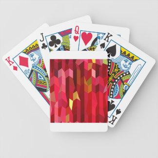 Kardinals-roter abstrakter niedriger poker karten