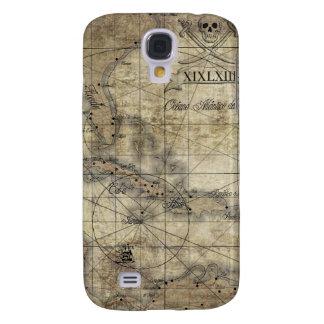 Karibisch - alte Karte Galaxy S4 Hülle