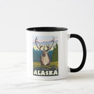Karibu im wilden - Yukon, Alaska Tasse