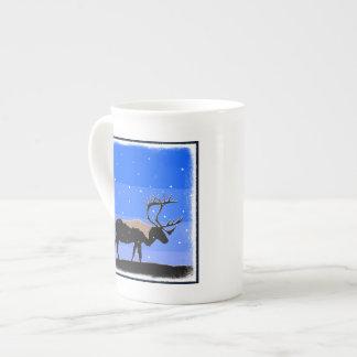 Karibu im Winter Porzellan-Tassen