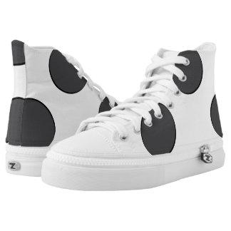 Karierte dunkelgraue Punkte Hoch-geschnittene Sneaker