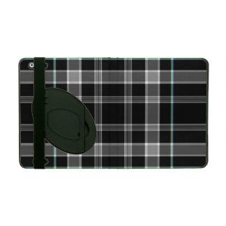 Karierter iPad Folio-Schwarzweiss-Kasten iPad Hülle