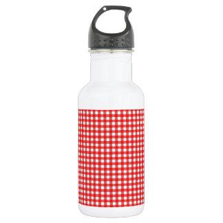 Kariertes Bild Trinkflasche