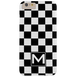 Kariertes Monogramm BWs Barely There iPhone 6 Plus Hülle