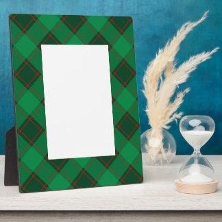 Kariertes Muster - Grün und Rot Fotoplatte