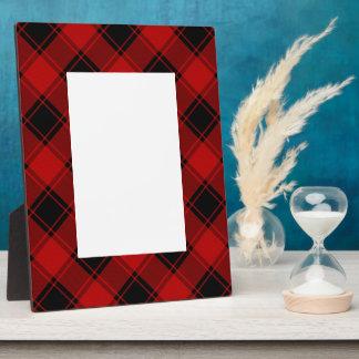 Kariertes Muster - Rot und Schwarzes Fotoplatte