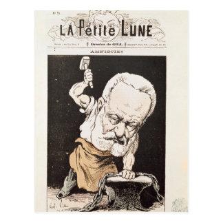Karikatur von Victor Hugo Postkarte