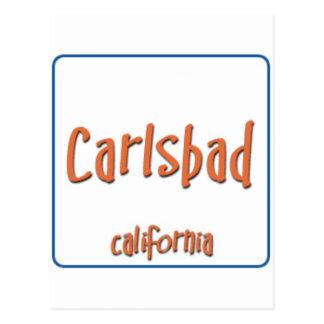Karlsbad Kalifornien BlueBox Postkarte