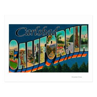 Karlsbad, Kalifornien - große Buchstabe-Szenen Postkarte