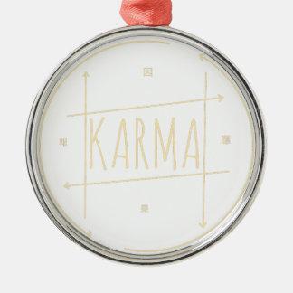 Karma (für dunklen Hintergrund) Silbernes Ornament