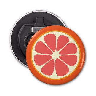 Karminrote rote Pampelmusen-saftige süße Runder Flaschenöffner