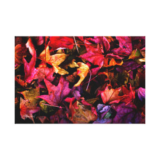 Karminrotes rotes Herbst-Blätter Leinwanddruck