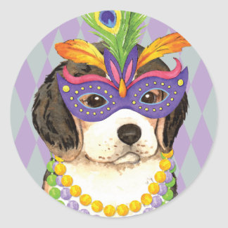 Karneval-Beagle Runder Aufkleber