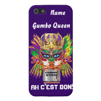 Karneval-Gumbo-Königin-Ansicht deutet bitte an iPhone 5 Cover