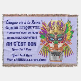 Karneval-Gumbo-Königin gelesen über den Entwurf Decke