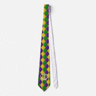Karneval-Harlekin-Diamant-Krawatte w/Crown Individuelle Krawatte