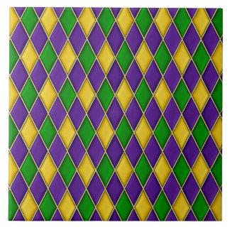 Karneval-Harlekin-Diamant-Muster-Fliesen Große Quadratische Fliese