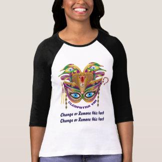 Karneval Kleopatra-VIII gelesen über Entwurf unten T-Shirt