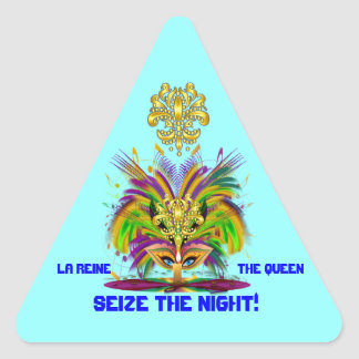 Karneval-Königin-Ansicht merkt bitte Dreieckiger Aufkleber