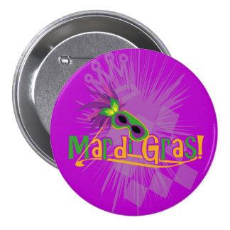 Karneval-Maske Runder Button 7,6 Cm