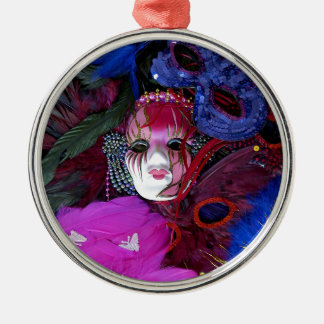 Karneval-Masken Rundes Silberfarbenes Ornament