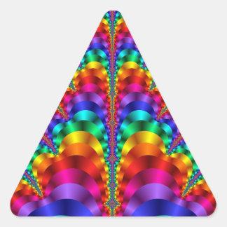 Karneval-Regenbogen-Gay Pride-Dreieck-Aufkleber Dreieckiger Aufkleber