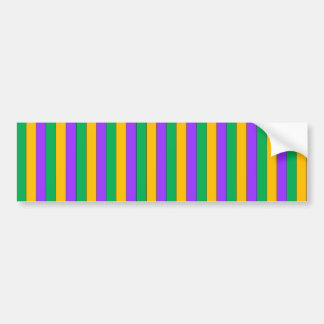 Karneval Stripes Muster-lila grünes Gelb Autoaufkleber