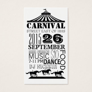 Karneval Visitenkarte