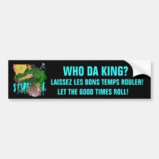 Karneval wer DA-König? Autoaufkleber