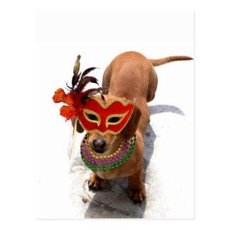 KarnevalDachsundhund Postkarten