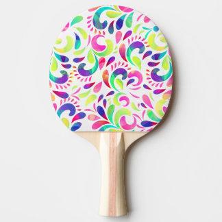 Karnevals-Farbexplosion der hellen Extravaganz Tischtennis Schläger